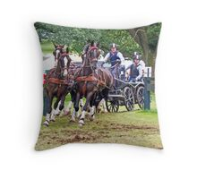 Four in Hand Throw Pillow