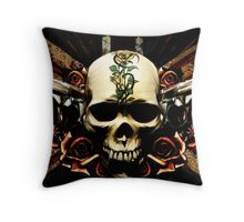 Guns & Roses Throw Pillow