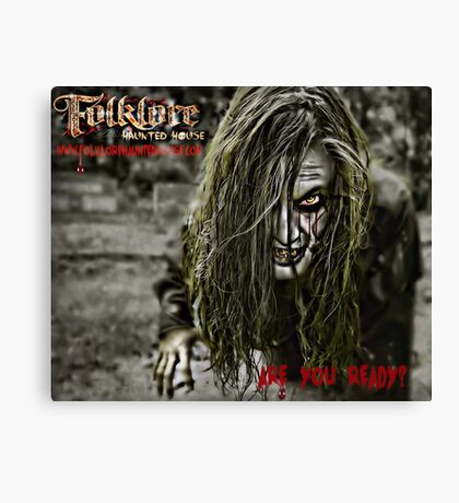Folklore Haunted House 2013 - Promo Ad Canvas Print
