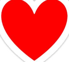 I Heart Jrock Shirt Sticker