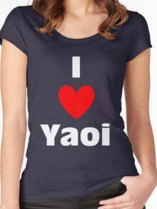 I Heart Yaoi Shirt (WHITE) Women's Fitted Scoop T-Shirt