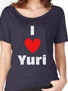 I Heart Yuri Shirt (WHITE) Women's Relaxed Fit T-Shirt