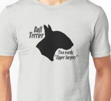 Bull Terrier- warning Unisex T-Shirt