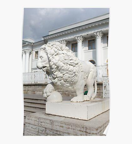 lion Sculpture Poster