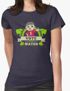 Vote for Him Womens Fitted T-Shirt
