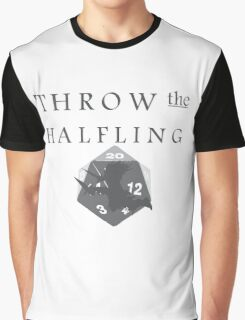 """""""THROW THE HALFLING!"""" -Dungeons and Dragons- Graphic T-Shirt"""