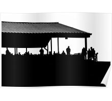 Silhouettes on the Deck Poster