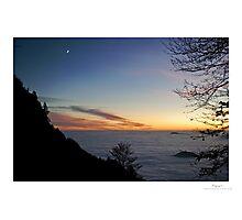 landscape at dusk Photographic Print