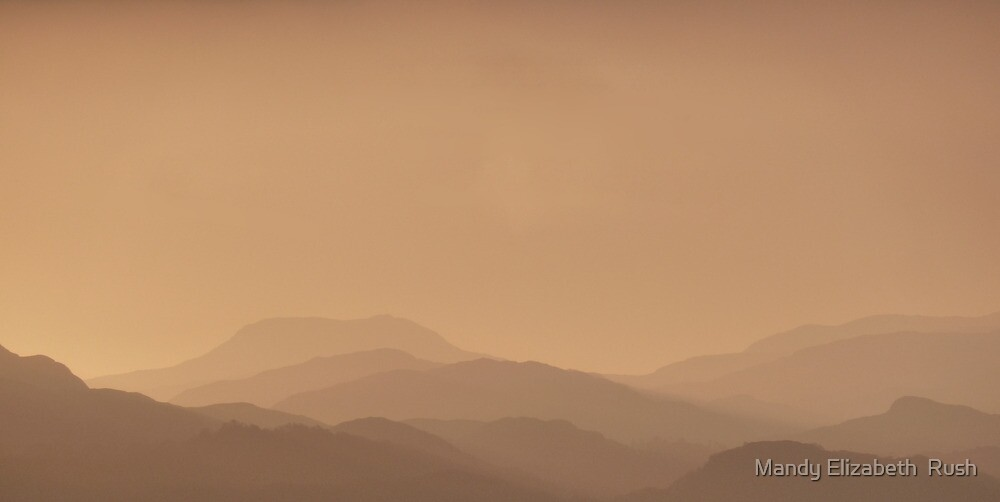 Torridon Mountains by Mandy Elizabeth  Rush
