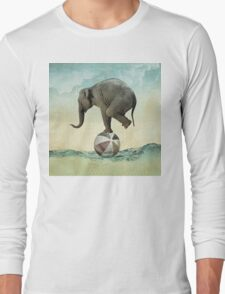 Elephant at Sea Long Sleeve T-Shirt