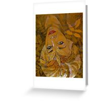 leaf halo gold Greeting Card