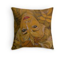 leaf halo gold Throw Pillow