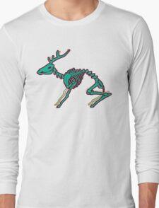 Skeletal deer - Green Long Sleeve T-Shirt