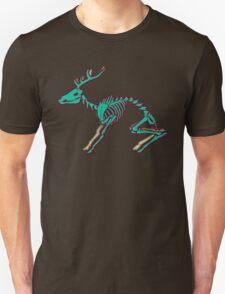 Skeletal deer - Green Unisex T-Shirt