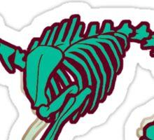 Skeletal deer - Green Sticker