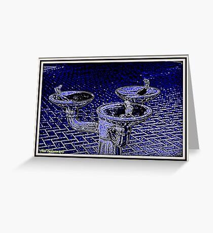 Water fountain Greeting Card