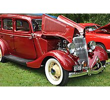 Spicy Red '34 Coup  Photographic Print