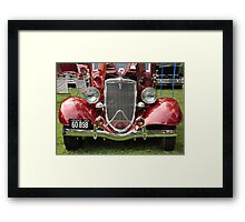 Spicy Red '34 Coup Grill  Framed Print