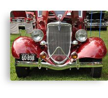 Spicy Red '34 Coup Grill  Canvas Print