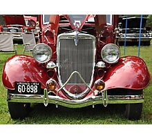 Spicy Red '34 Coup Grill  Photographic Print