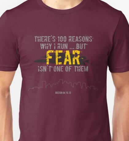 There's 100 Reasons To Run | Boston Strong Unisex T-Shirt