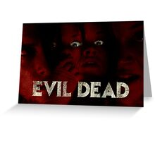 Evil Dead (remake) poster Greeting Card