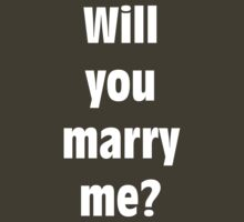 Marriage Proposal (WHITE) by Merwok
