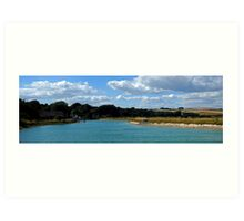 Piddinghoe Panorama Art Print