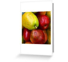Red Fruit 5 Green Fruit 3 Greeting Card