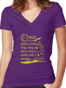 Storytime  Women's Fitted V-Neck T-Shirt