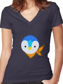 Piplup! Women's Fitted V-Neck T-Shirt