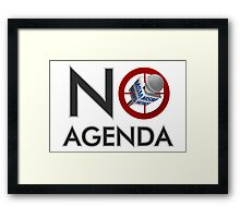 No Agenda Logo - Large Prints and Stretched Canvas Framed Print