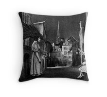 Porcupine Hunters. Throw Pillow