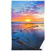 Makua Valley Sunset Poster