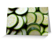 Courgettes Or Zucchini.........You Choose! Greeting Card