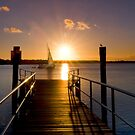 Sailing By - Tipplers Resort South Stradbroke Island Qld. by Beth  Wode