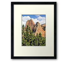 Sandstone Towers in the Kolob Canyons of Zion Framed Print