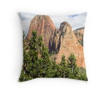 Sandstone Towers in the Kolob Canyons of Zion Throw Pillow