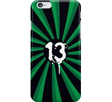 Black and Green 13 iPhone Case/Skin