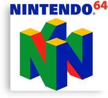 Nintendo 64 Logo HD Canvas Print