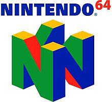 Nintendo 64 Logo HD Photographic Print