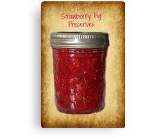 Strawberry Fig Preserves Canvas Print
