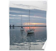 Sunset on Dublin Bay, Dun Laoghaire, Ireland Poster
