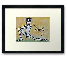 Man Pose Framed Print