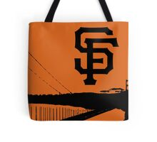 San Francisco Giants and the Golden Gate bridge Tote Bag