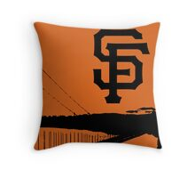 San Francisco Giants and the Golden Gate bridge Throw Pillow