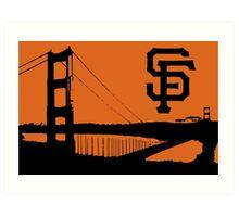 San Francisco Giants and the Golden Gate bridge Art Print