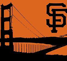 San Francisco Giants and the Golden Gate bridge by nourishedmenis