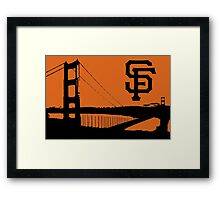 San Francisco Giants and the Golden Gate bridge Framed Print
