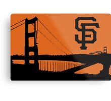 San Francisco Giants and the Golden Gate bridge Metal Print